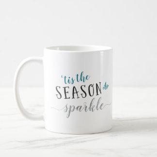 Mug 'Tis la saison à miroiter Noël