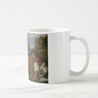 Mug Titian - la famille sainte avec un berger