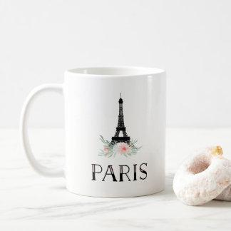 Mug Tour Eiffel à la mode et rougissent les fleurs