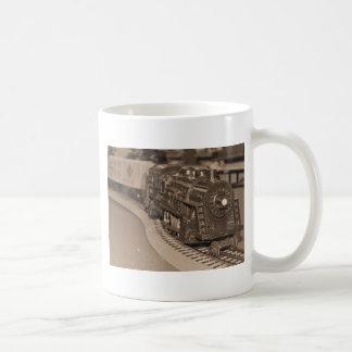 Mug Train de modèle d'échelle d'O - ton de sépia
