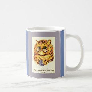 Mug Tricot vintage de chat par Louis Wain