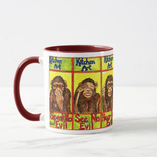 Mug Trois singes sages