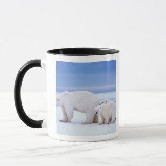 Mug Truie d'ours blanc avec des petits animaux sur la