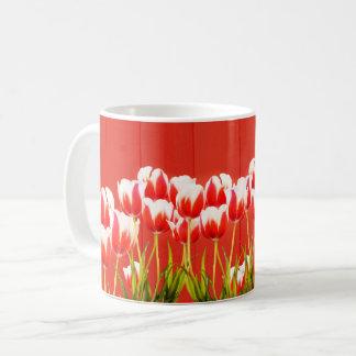 Mug Tulipes rouges et blanches