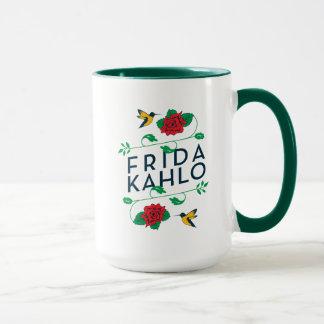 Mug Typographie florale de Frida Kahlo |