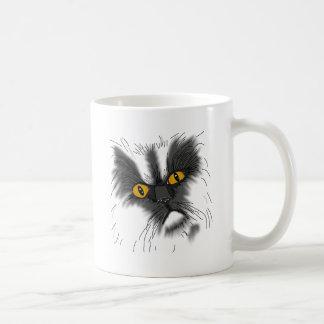 Mug Un chat grincheux pas tout ici