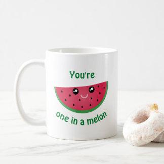 Mug Un dans une pastèque mignonne drôle de Kawaii de
