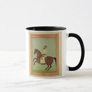 Mug Un noble de Mughal à cheval, c.1790, du Larg
