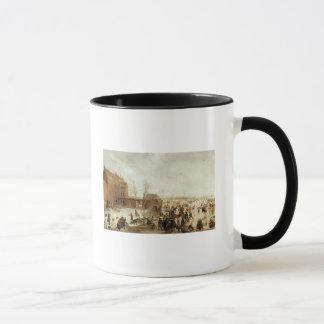 Mug Une scène sur la glace près d'une ville, c.1615
