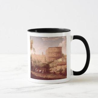 Mug Une vue du Colosseum avec un voyageur, 1731 (oi