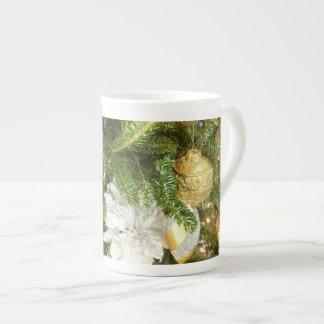 Mug Vacances de l'arbre de Noël d'argent et d'or I