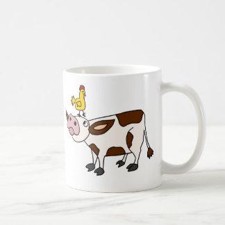 Mug Vache géniale avec le poulet sur sa bande dessinée