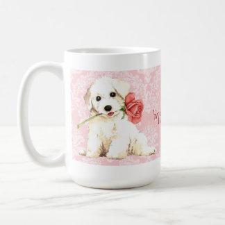 Mug Valentine Bichon rose