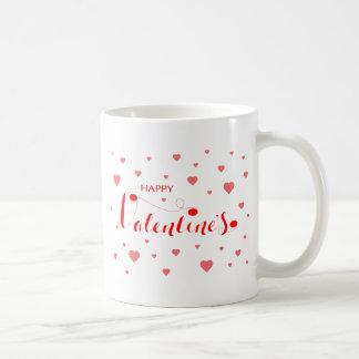 Mug Valentine HEUREUX avec les coeurs rouges