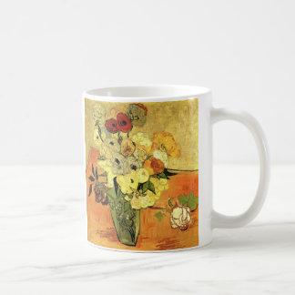 Mug Vase japonais à Van Gogh avec des roses et des
