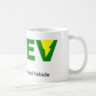 Mug Véhicule électrique hybride embrochable vert de