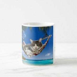 Mug Velours côtelé dans le des Caraïbes (chat dans