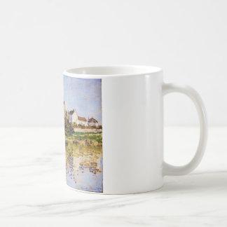 Mug Vetheuil, l'église par Claude Monet
