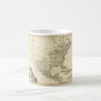 Mug Vieille carte de l'Amérique du Nord (1783)