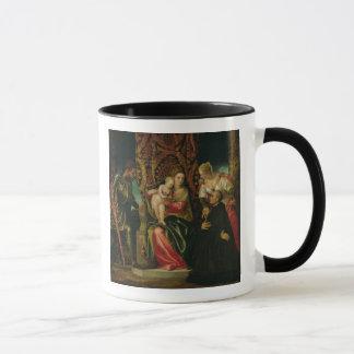 Mug Vierge et enfant avec un moine bénédictin