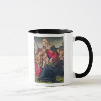 Mug Vierge et enfant et musiciens d'ange