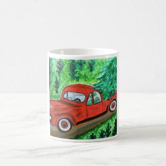 Mug Vieux camion de rouge de mode