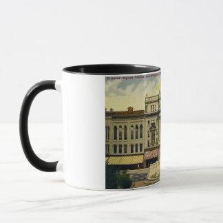 Mug Vieux théatre de l'opéra de Detroit et fontaine,
