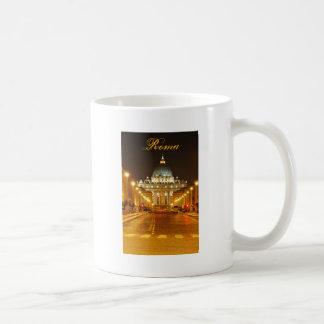 Mug Ville du Vatican, Rome, Italie la nuit