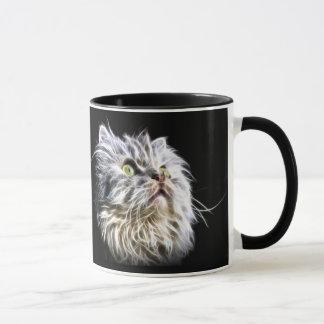 Mug Visage de chat persan de Fractalius