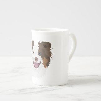 Mug Visage heureux border collie de chiens