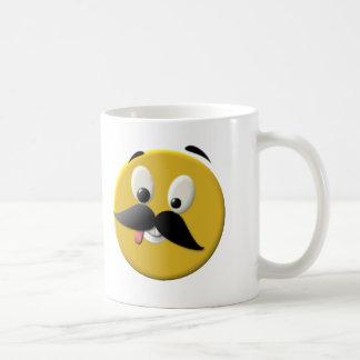 Mug Visage heureux maladroit avec la moustache
