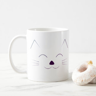 Mug Visage mignon de chat - pourpre