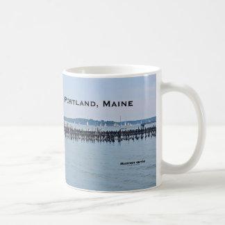 Mug Voiliers sur la côte du vieux port, Portland Maine