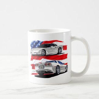Mug Voiture 1999-04 de blanc de Corvette