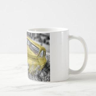 Mug Voiture classique jaune vintage