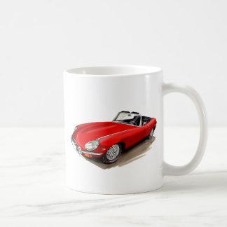 Mug Voiture de rouge de Jaguar XKE