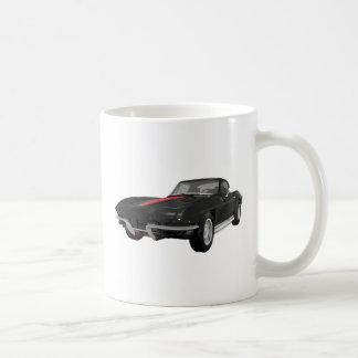 Mug Voiture de sport 1967 de Corvette : Finition noire