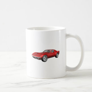 Mug Voiture de sport 1970 de Corvette : Finition rouge