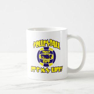 Mug VOLLEYBALL EN OR ET ROYAL SUR les produits BLANCS