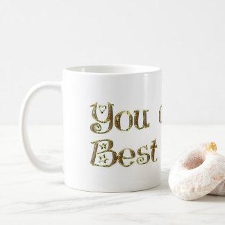 Mug Vous êtes mon amitié de typographie d'or de
