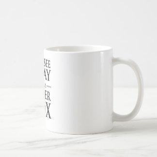 Mug Vous voyez le gris, je voyez un Fox argenté