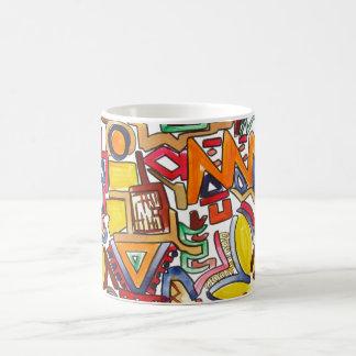 Mug Voyage par la route - art abstrait