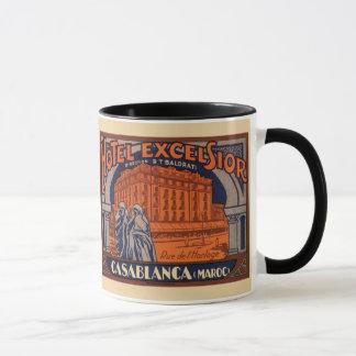 Mug Voyage vintage, Casablanca au Maroc, Afrique
