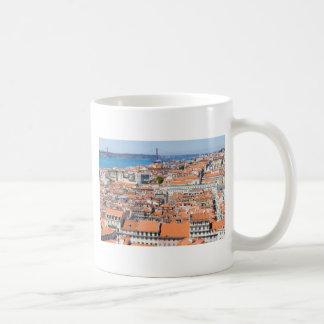 Mug Vue aérienne de Lisbonne, Portugal