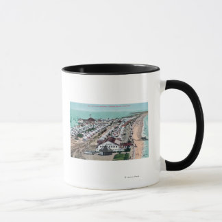Mug Vue aérienne de ville de tente de del Coronado