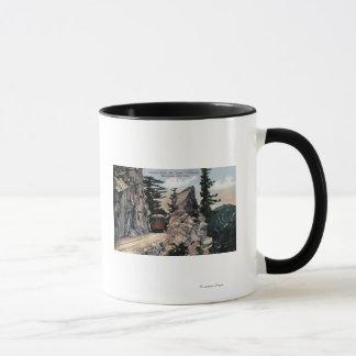 Mug Vue de chemin de fer de porte de granit