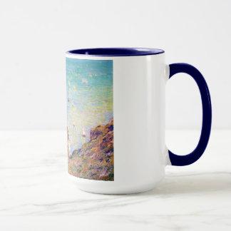 Mug Vue de la falaise chez Pourville, temps lumineux
