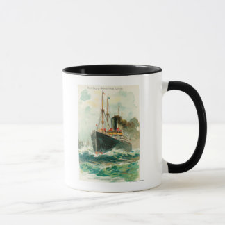 Mug Vue de Patricia en mer, Hambourg-Amérique