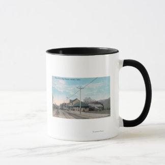 Mug Vue de rue principale d'union DepotLewiston,