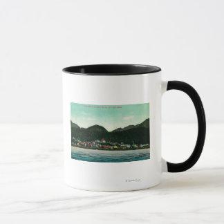 Mug Vue de ville de Ketchikan, Alaska de vapeur